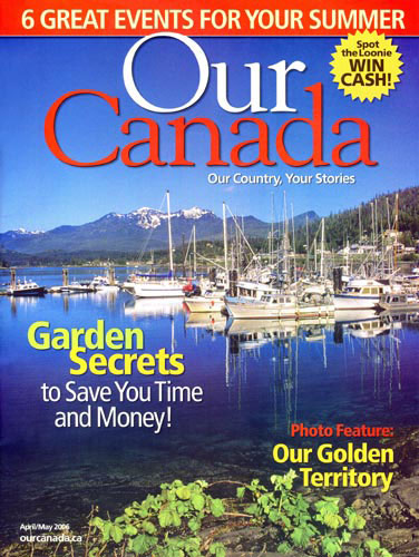 Cover 2006 April Issue Our Canada Magazine Features Niagara Photographer